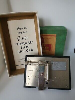 Vintage Ensign Popular Film Splicer for 16mm Film in Box with Instructions for sale  Shipping to Ireland