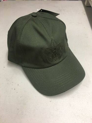 Boy Scouts of America Uniform Cap Green S/M New Vintage Embroidered Adjustable