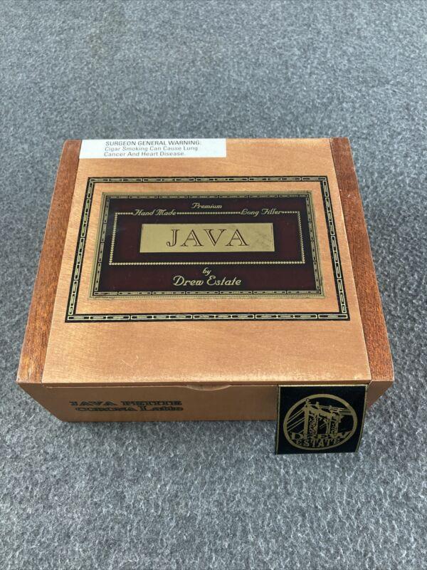 Java By Drew Estate Java Petite Corona Latte Wooden Empty Cigar Box