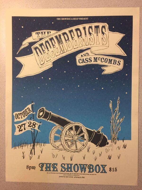 The Decemberists Class McCombs Poster Print Matt Treich Seattle Silkscreen