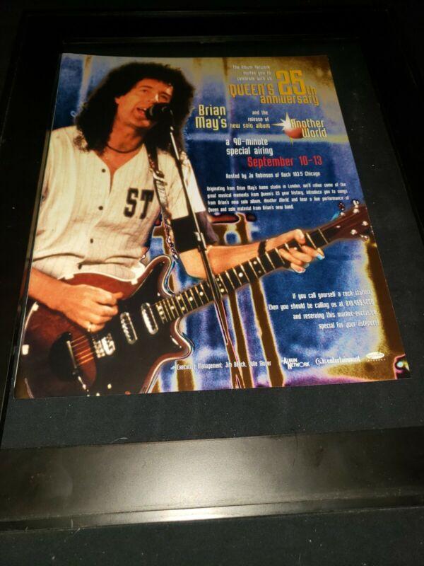 Queen 25th Anniversary Rare Original Radio Special Promo Poster Ad Framed!