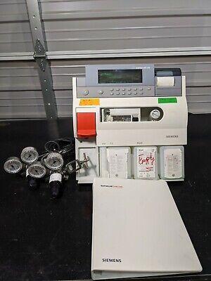 Siemens Rapidlab 248 Ph Blood Gas Analyzer W Regulator Manual 30 Day Guarantee