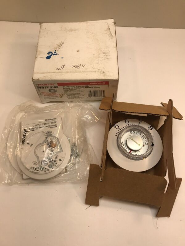 NEW Honeywell Tradeline T87F 5199 The Round Thermostat New In Box