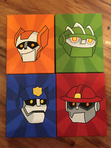 Hand painted Rescue Bots  canvases