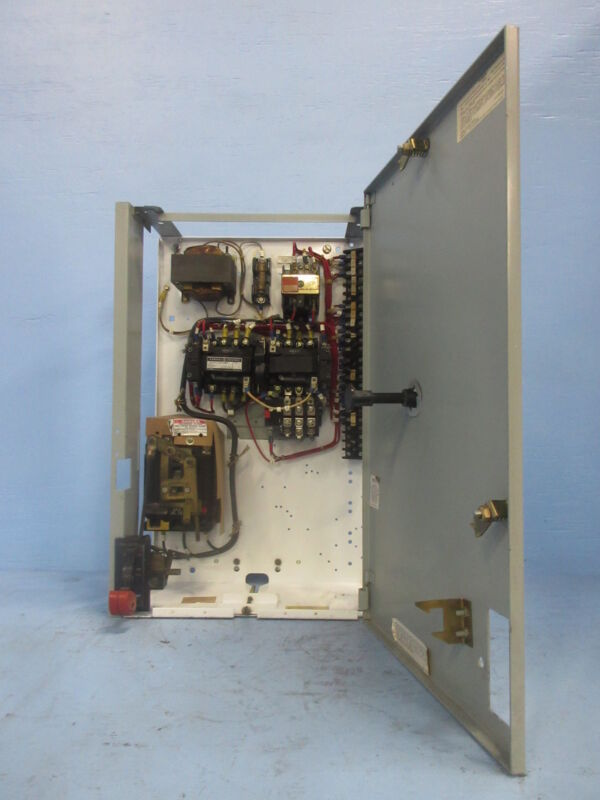 "General Electric GE 8000 Size 1 Reversing Starter 30 Amp Breaker 24"" MCC Bucket"