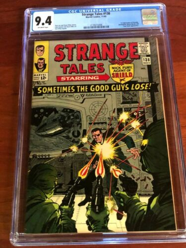 STRANGE TALES #138, CGC 9.4 (NM),  First Eternity, A Beauty!!  New CGC Case!