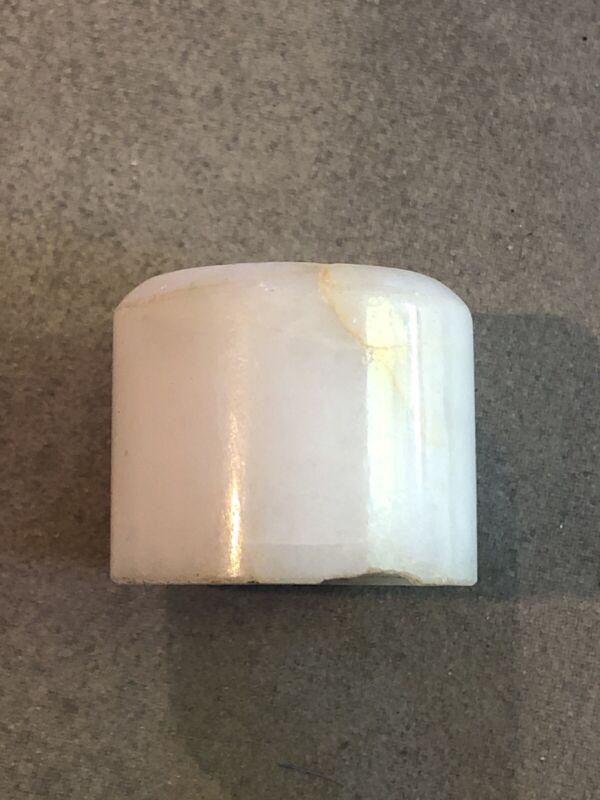 Antique Chinese White Jade Ring