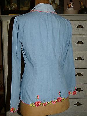 Xxx veste / chemise bleue christian lacroix t f 40 i 44 d 40 us 10 tttbe