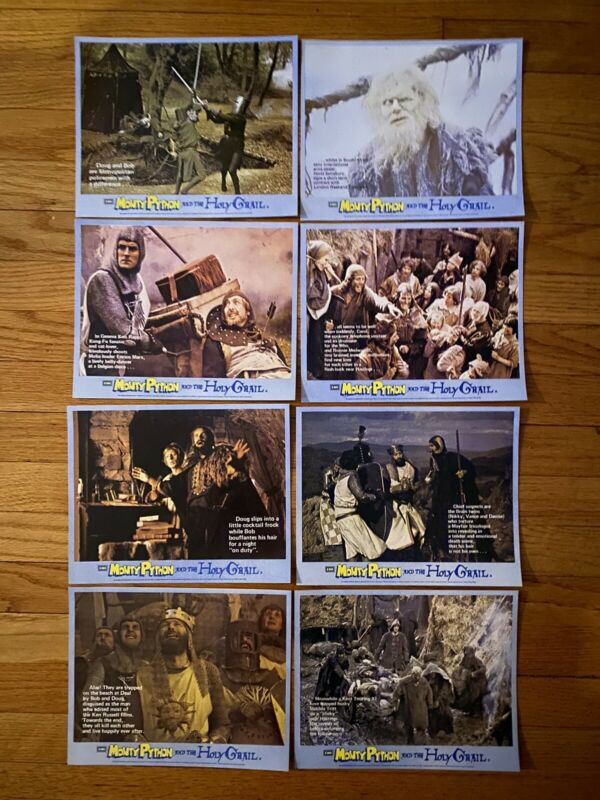 MONTY PYTHON AND THE HOLY GRAIL Mini Lobby Card Set EMI Great Britain