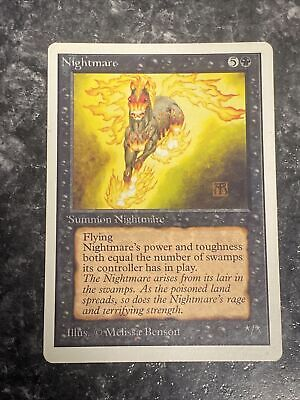Nightmare x1 mtg Unlimited Lp