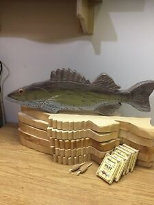 Homemade crib boards unfinished for the fishing enthusiasts!