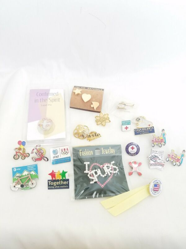 Lapel Pin Mixed Lot New And Vintage