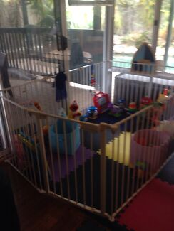 Childcare Universal Hearth Gate Playpen plus extensions - huge playpen Winthrop Melville Area Preview
