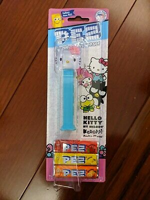 Hello Kitty Crystal PEZ Candy and Dispenser - Hard to Find Hello Kitty Pez Dispenser