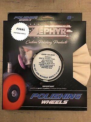 Zephyr White Finish Buffing Wheel Untreated (New) Final Polishing -