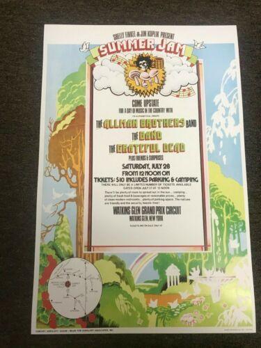 """1973 Summer Jam Watkins Glen Allman Brothers Grateful Dead Band Poster 12""""x18"""""""