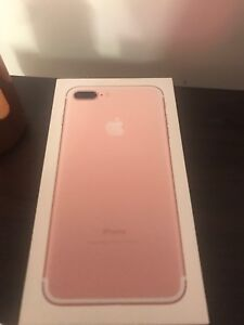 iPhone 7 Plus 128gb rose gold box only