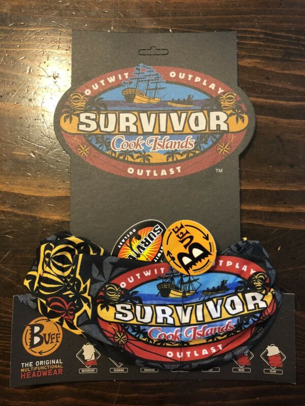 Survivor: Cook Islands black Aitutonga merge buff - New w/card and tags