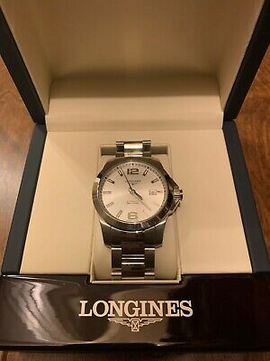 Longines Conquest Automatic Silver Dial Men's Watch L3.777.4-Great Condition