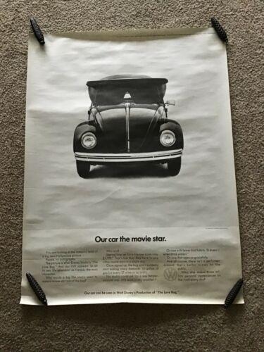 1968  VW Beetle original dealership showroom poster.