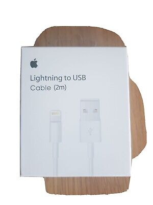 Genuine Boxed Apple 2m Lightning to USB Charging Cable For iPhone 5 6 7 8 X