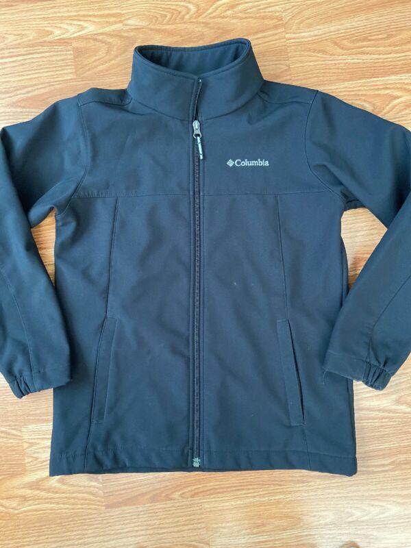 Columbia Youth Jacket Softshell Black Size M 10-12 Full Zip Up Fleece Lined