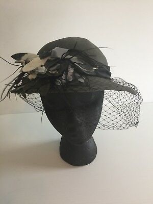 Miller Thomas for Sylvia of St. Louis Vintage Black Hat