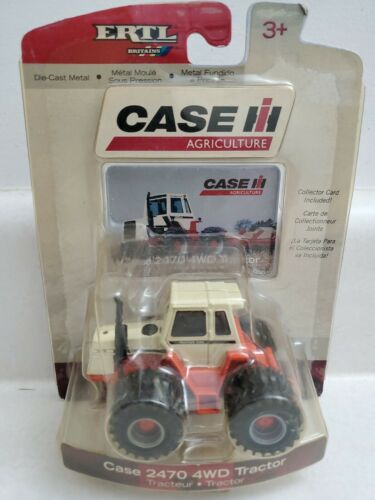 Case 2470 4WD Tractor With Duals & Collector Card 1/64 Scale ERTL 14649