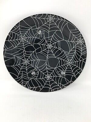 Halloween Spider Decorations Make (Halloween Home Decor Plates Spider Spiderwebs Plate Melamine Brand)