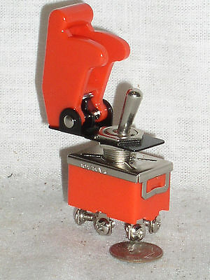 New Dpdt 15a Toggle Switch Red Plastic Safe Flip Safety Cover Guard Combo Usa