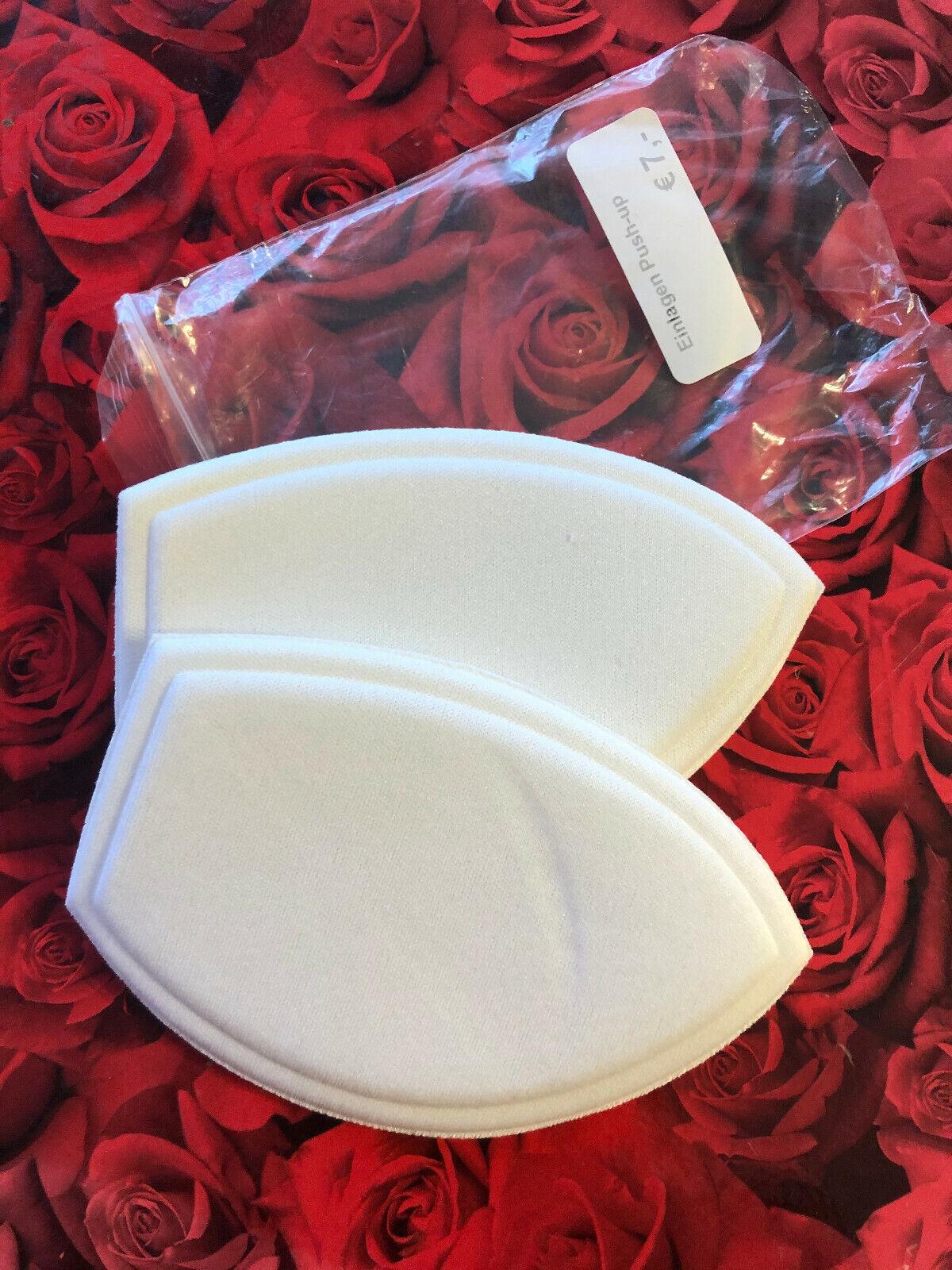 2 BH Einlagen Push Up Kissen aus Schaumstoff ca. 0,5 cm weiss UVP: 7 € NEU!