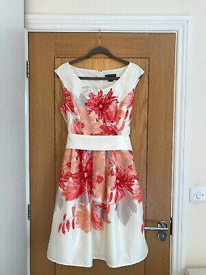 JESSICA HOWARD Multi Floral Scoop Neck Sleeveless Tie Waist Dress UK Size 16