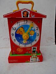 Fisher-Price Music Box Teaching Clock 998 Classic Childrens Toy - 2009 Replica