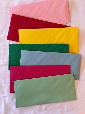 Envelopes 24lb Paper Colored Envelopes Letter Size 50 Pack New 4-18 X 9-12