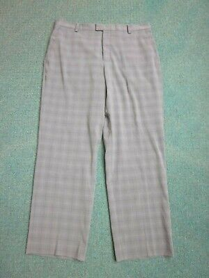 """Tiger Woods Collection Nike Gray Plaid Golf Pants Men's 36, Tailored Inseam 30"""""""
