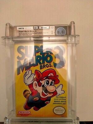 Super Mario Bros 3 1st Print NES �� WATA 8.5 ��SMB3 Super High CIB Grade