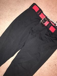 Easton Softball Pants with Under Armour Belt