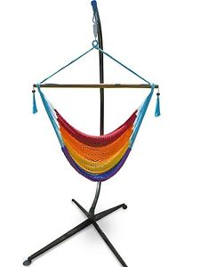 RRP $199 New Hanging Chair Hammock Metal Stand &Caribbean Hammock Woy Woy Gosford Area Preview