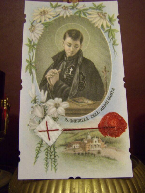 St. Gabriel Possenti Passionist Di-Cut Relic Card Reliquary/with Seal Passionist