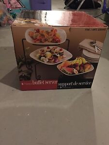 3 tiered buffet server brand new