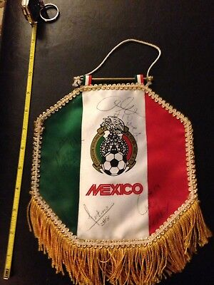 Mexico Soccer Mini Banner Sports Futbol Pennant Autographs/signatures Vintage? - Sports Pennant Banner