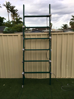 Decorative hanging ladder with lighting