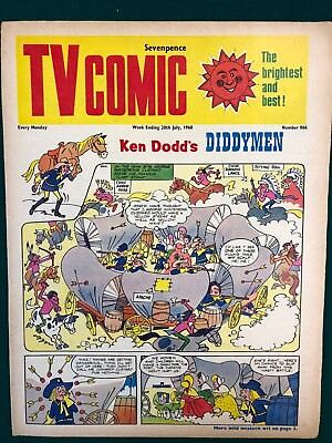 TV COMIC #866 weekly British comic book July 20 1968 Doctor Who in full color