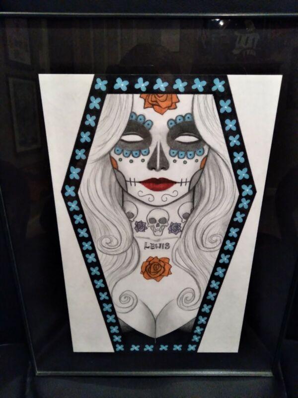 Lady Death 🖤 Original Art / Scott Lewis  10.5 x 6.75