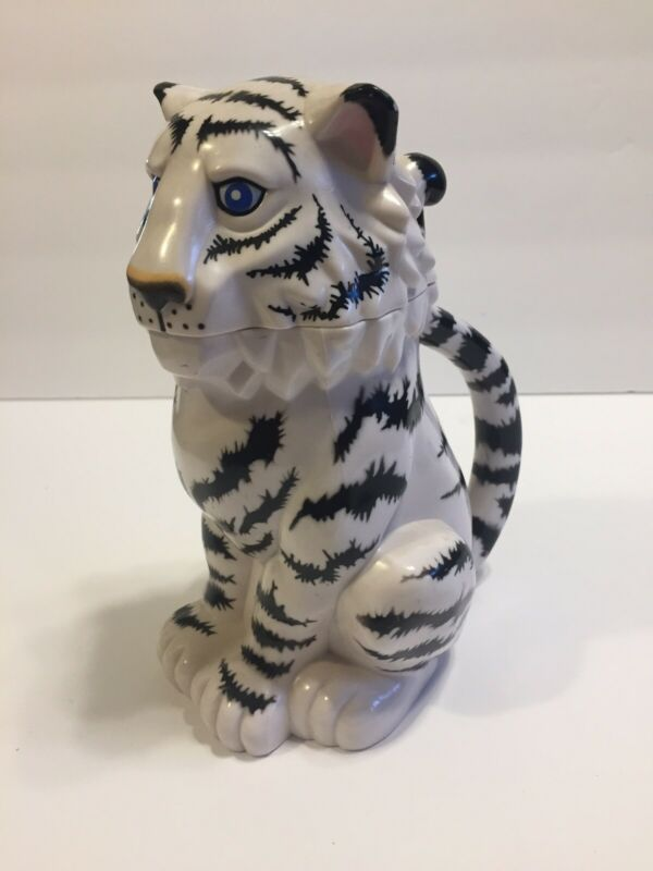 Ringling Bros Barnum & Bailey Plastic Hinged White Tiger Drinking Cup