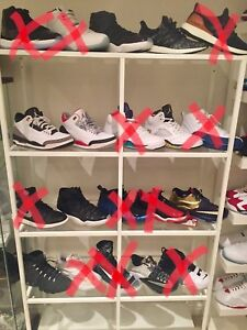 Assorted sneakers- jordan retro, adidas boost l, Nike size 12/13