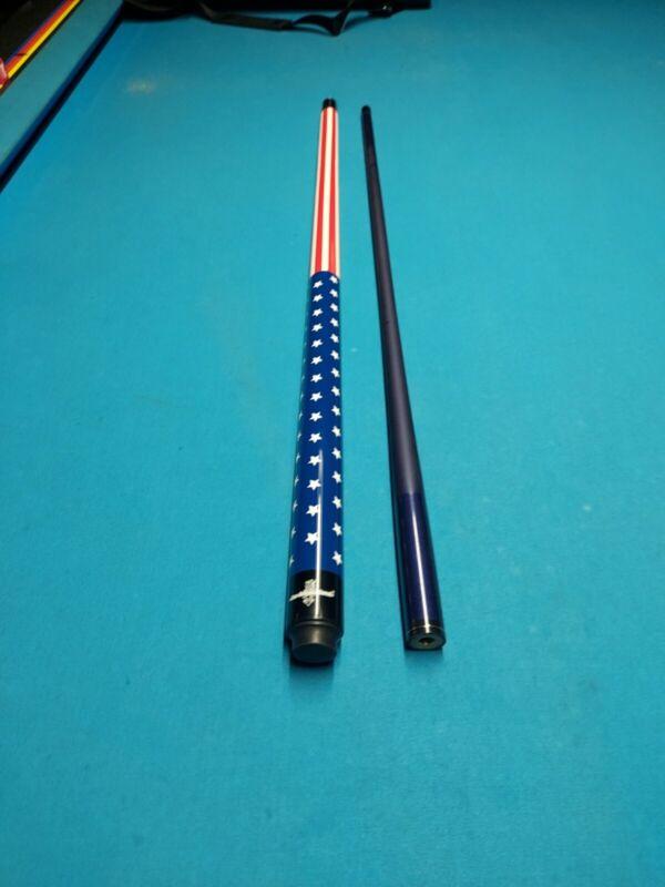 American Flag USA 19 oz Break cue 13mm phenolic tip carbon fiber over wood shaft