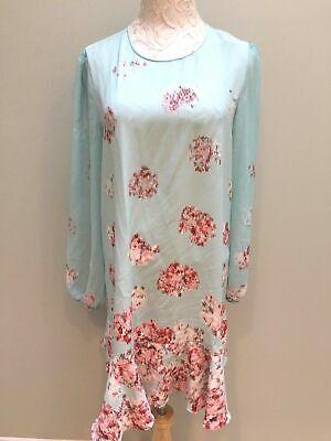 Turquoise Wedding Dress (BCBG Max Azria NWT Aqua Dress Sz Large Dressy Evening Bridal)
