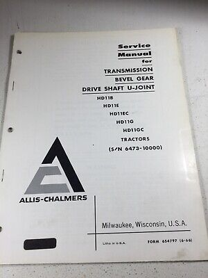 Allis Chalmers Hd11b Hd11e Hd11ec Hd11g Dozers Transmission Service Manual