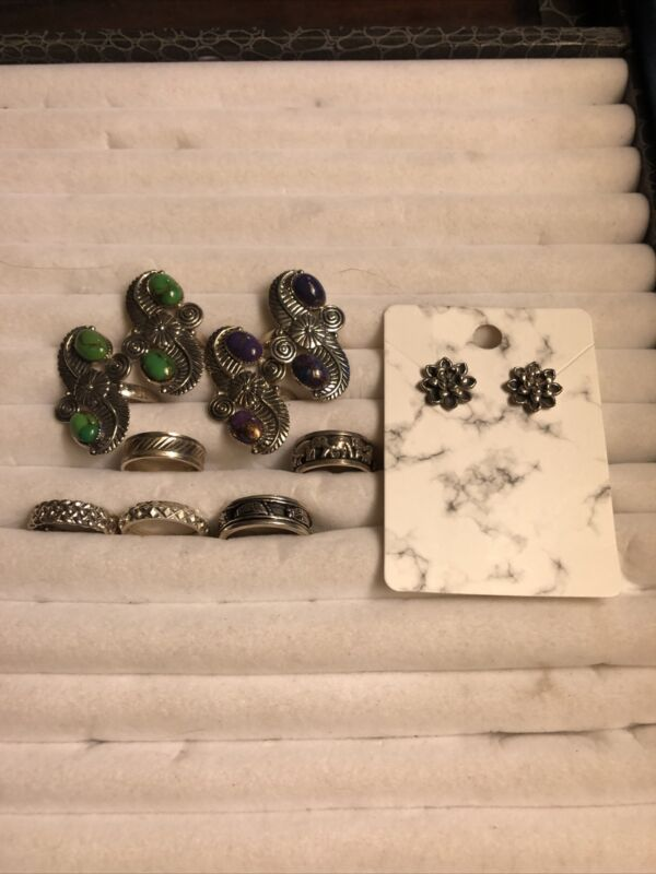 Lot Of 925 Silver Rings